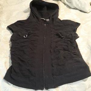 Hooded zip up tshirt
